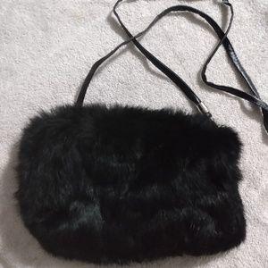 Fur muff bag